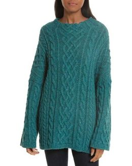 Oversize Fisherman Cable-knit Sweater