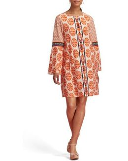 Print Bell Sleeve Dress