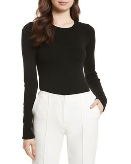 Cutout Fitted Sweater
