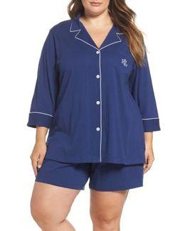 Notched Collar Pajamas