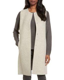 Long Wool Blend Vest