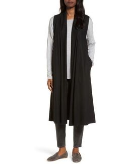 Long Boiled Wool Vest