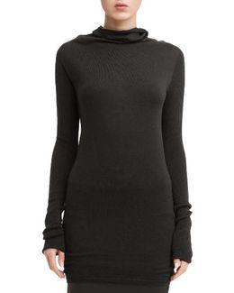 Drape Neck Wool Sweater