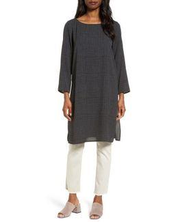 Check Silk Tunic