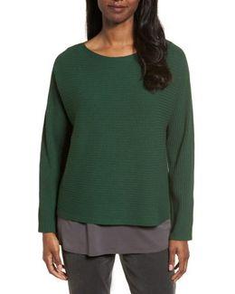 Boxy Ribbed Wool Sweater