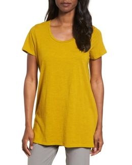 U-neck Organic Cotton Tee