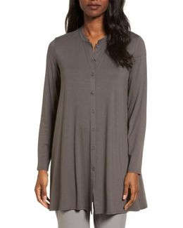Button Front Jersey Tunic
