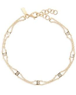 Lucky 7 Baguette Chain Diamond Bracelet
