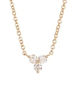 Trio Diamond Pendant Necklace