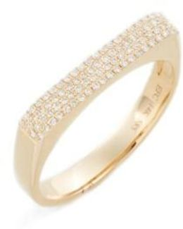 Jumbo Diamond Bar Ring