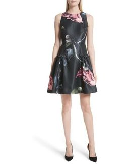 Sarahe Floral Fit & Flare Dress