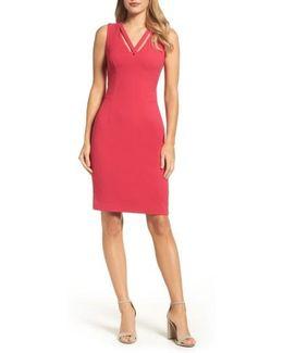 Seamed Sheath Dress