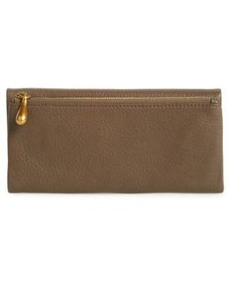 Eagle Calfskin Leather Trifold Wallet