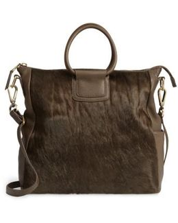 Sheila Convertible Leather Satchel