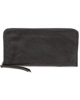 Remi Calfskin Leather Zip-around Wallet