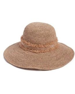 Palm Desert Wide Brim Raffia Straw Hat