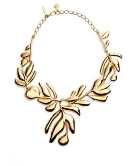 Graphic Botanic Collar Necklace