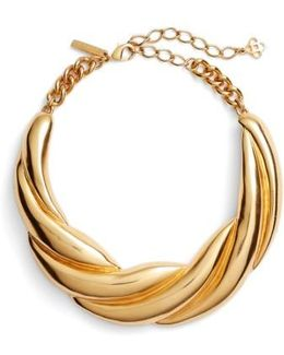 Twisted Rope Collar Necklace