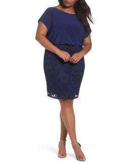 Mixed Media Blouson Dress