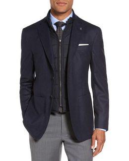Tucker Trim Fit Plaid Wool Sport Coat