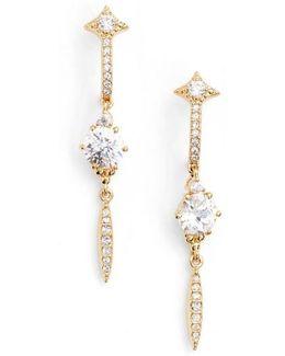Cardamom Linear Earrings