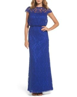 Corded Lace Blouson Gown
