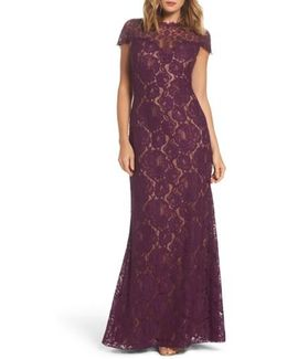 Corded Lace A-line Gown