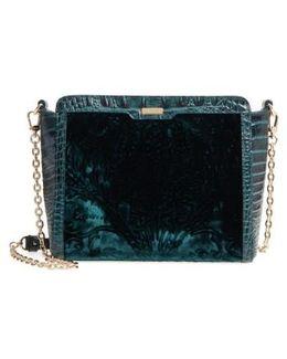 Ivy Cellini Carrie Embossed Velvet Crossbody Bag