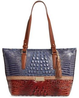 Medium Andesite Lucino - Asher Embossed Leather Tote