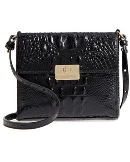 Melbourne Manhattan Croc Embossed Leather Crossbody Bag