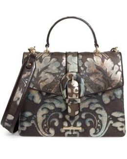 Bronze Grazioso Gabriella Leather Satchel