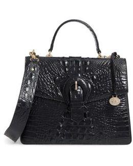 Melbourne Gabriella Embossed Leather Satchel