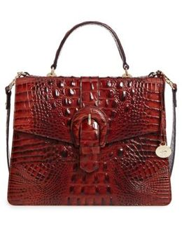 Melbourne Gabriella Embossed Leather Satchel