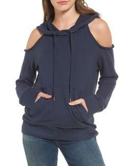 Cold Shoulder Hoodie