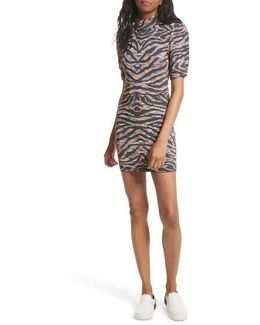 Take Me Out Jacquard Body-con Dress