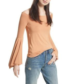 Birds Of Paradise Off The Shoulder Top