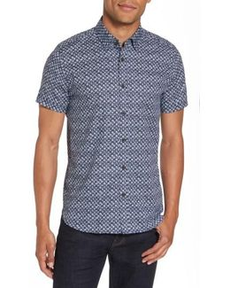 Skwered Extra Slim Fit Print Sport Shirt