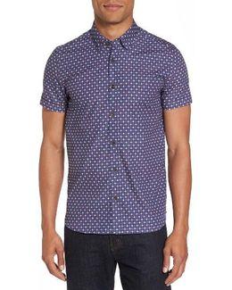 Burstin Extra Slim Fit Print Sport Shirt
