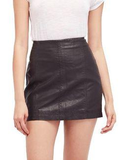 Modern Femme Faux Leather Miniskirt