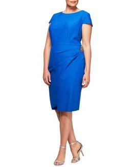 Embellished Cap Sleeve Sheath Dress