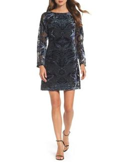 Velvet Burnout Sheath Dress