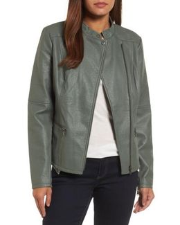 City Chic Faux Leather Jacket