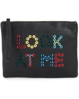 Layton Look At Me Embellished Pouch