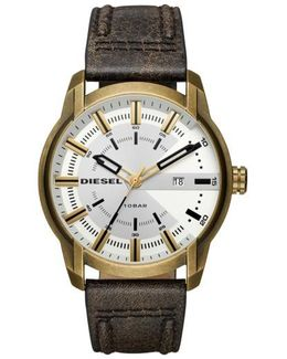 Diesel Armbar Leather Strap Watch