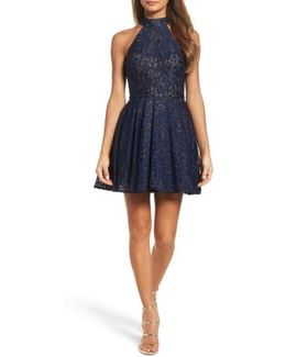 Lace Halter Style Dress
