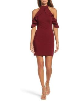 Cold Shoulder Open Back Body-con Dress