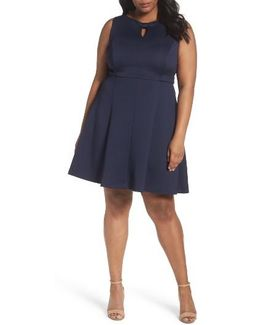 Bow Detail Fit & Flare Dress