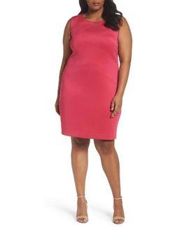 Scuba Knit Sheath Dress