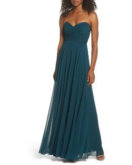 Adeline Strapless Chiffon Gown