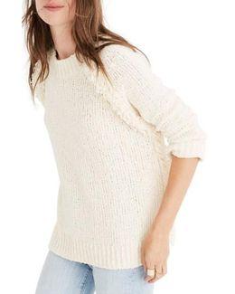 Loopy Fringe Raglan Sweater